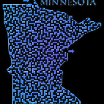 Minnesota State Outline Maze & Labyrinth by gorff
