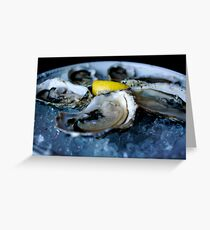 Oyster Greeting Card