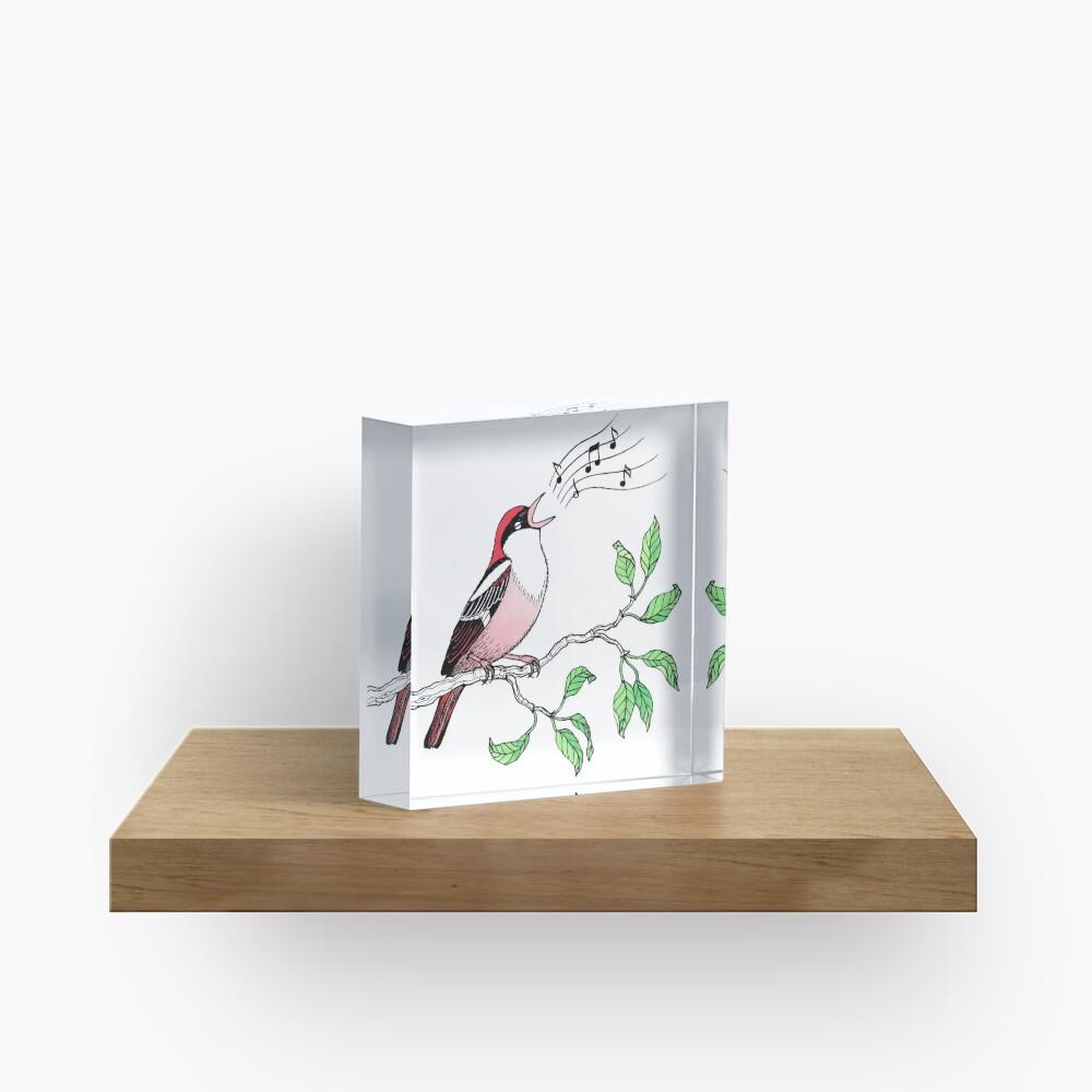 Singing Bird Acrylic Block