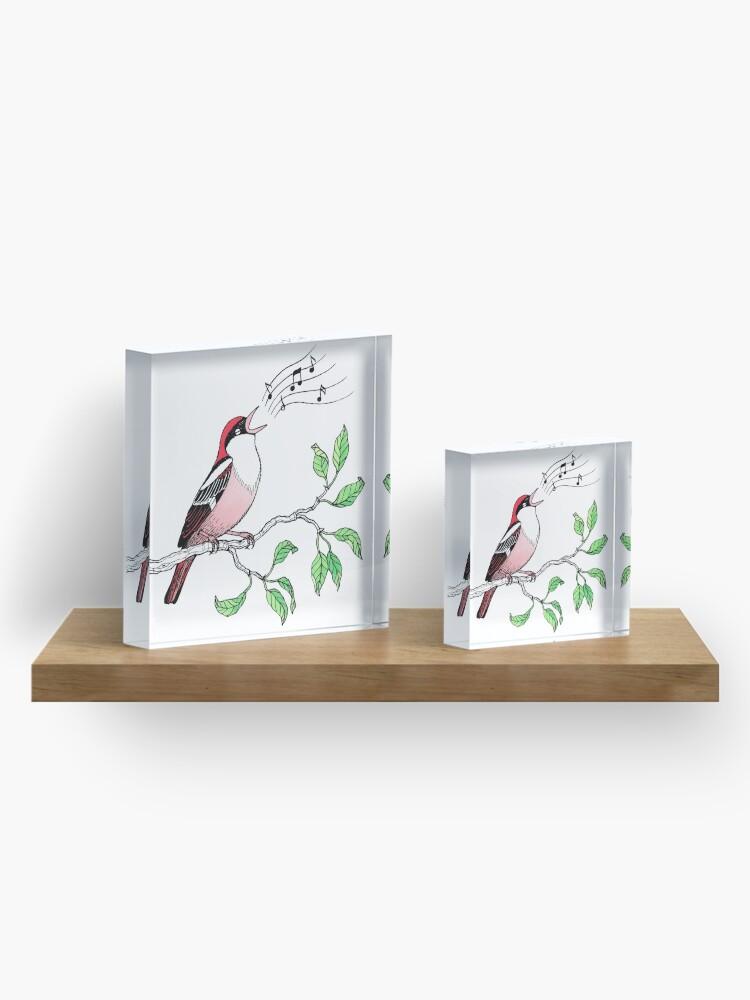 Alternate view of Singing Bird Acrylic Block