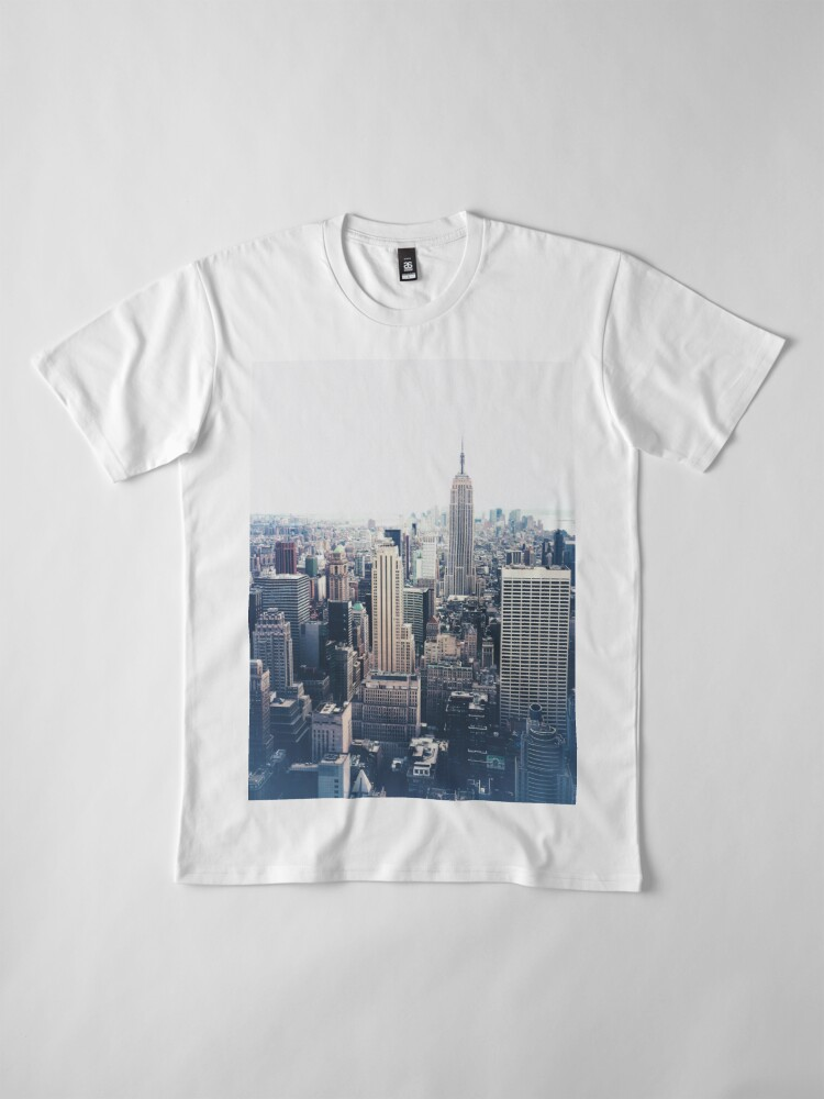 Alternate view of Foggy Day in New York City Premium T-Shirt