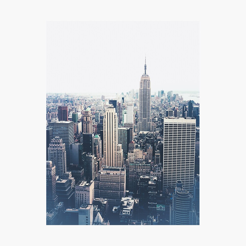 Foggy Day in New York City Photographic Print