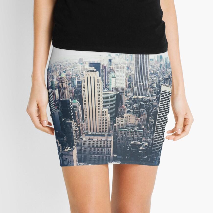 Foggy Day in New York City Mini Skirt