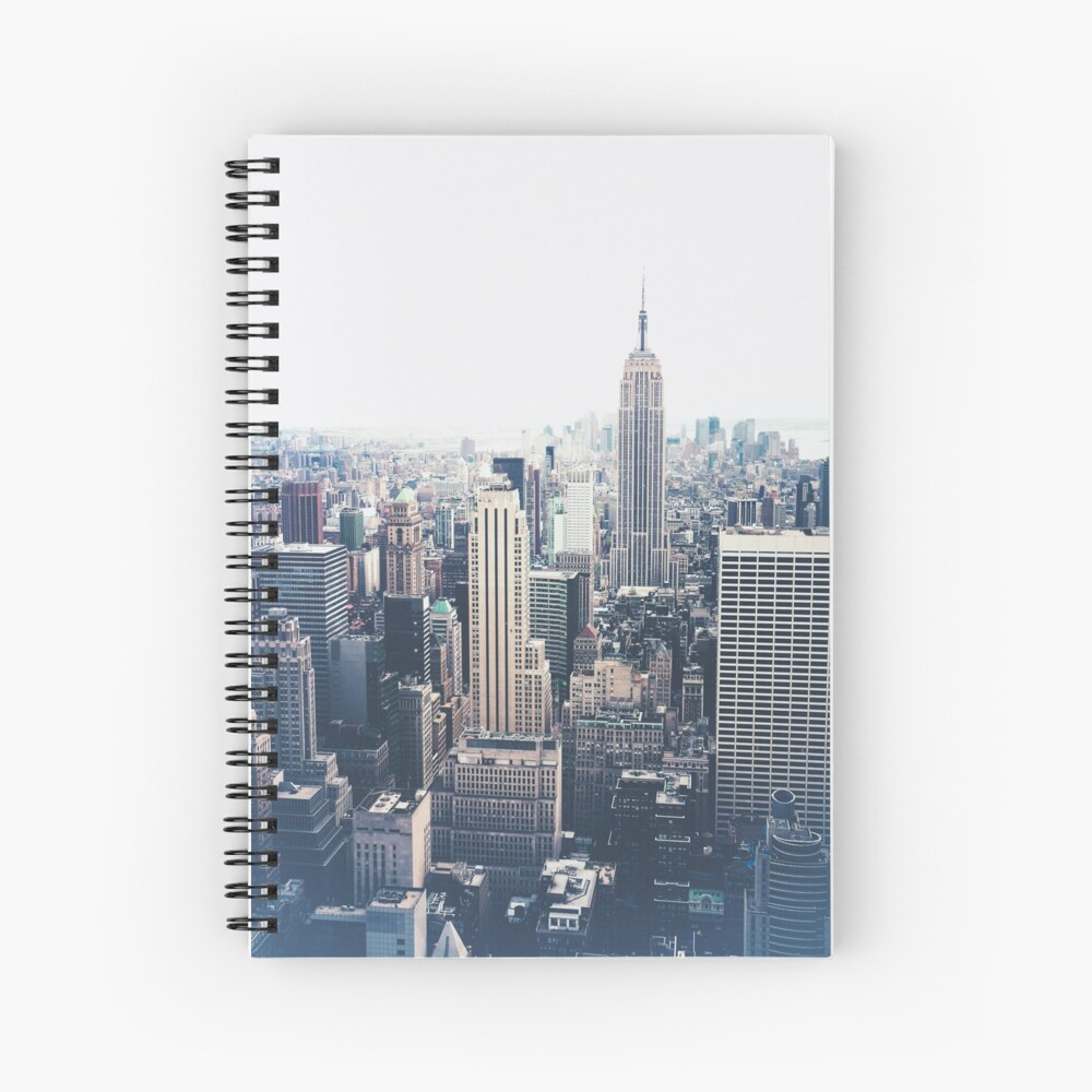 Foggy Day in New York City Spiral Notebook