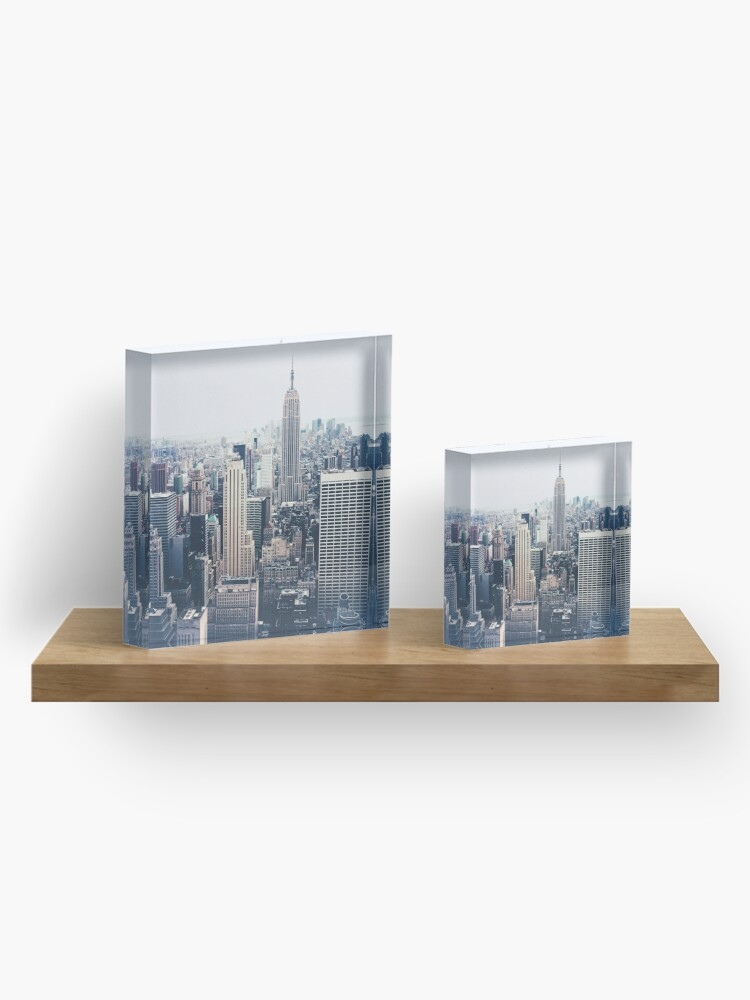 Alternate view of Foggy Day in New York City Acrylic Block