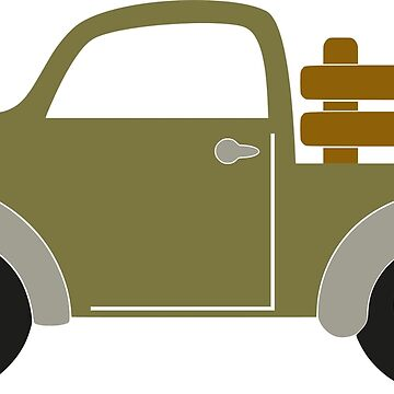 Pick-up truck by fun-tee-shirts