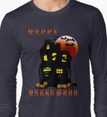 Happy Halloween Mansion  Long Sleeve T-Shirt