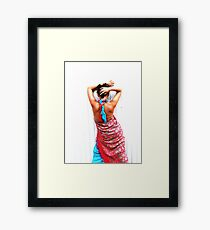 Female shoulders Framed Print