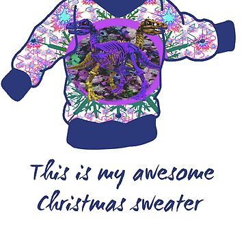 Dinosaurs Christmas Sweater Design by Ash-N-Finn