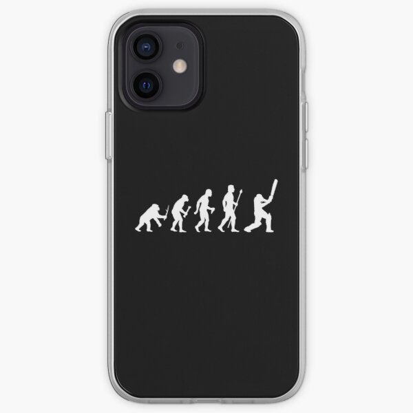 Cricket Evolution Of Man  iPhone Soft Case