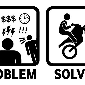 Motorbikes Dirtbike Funny Problem Solved T Shirt by BeyondEvolved