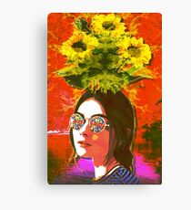 The Girl with Kaleidoscope Eyes Canvas Print