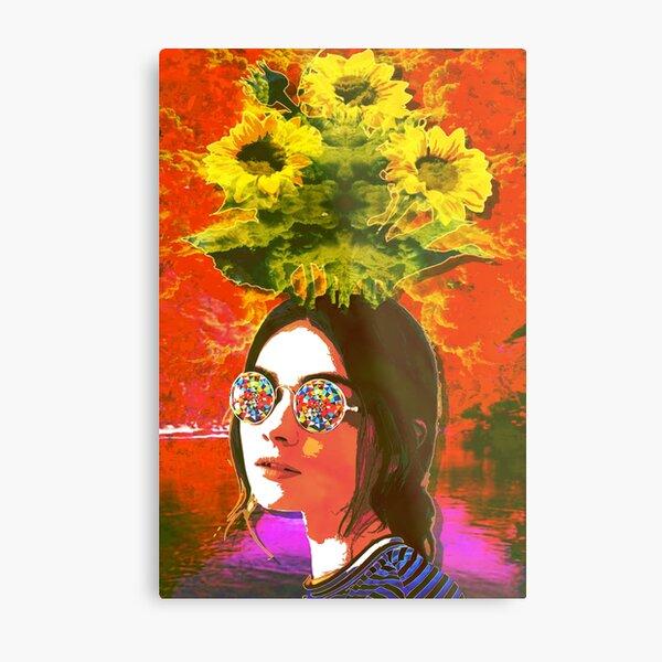 The Girl with Kaleidoscope Eyes Metal Print