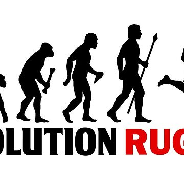Evolution Of Man and Rugby Funny T Shirt by BeyondEvolved