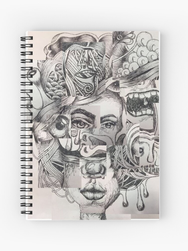 Sketched Mental Health Disorder Piece Spiral Notebook By Chloesartstoof Redbubble
