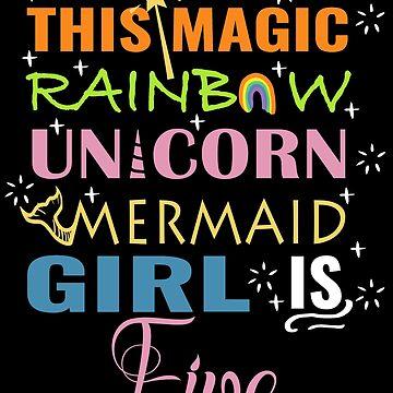 Mermaid Unicorn Birthday 5 Girl Shirt by NoriTEEs