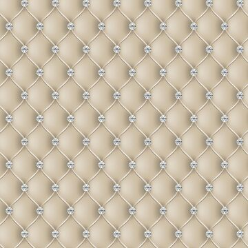 Elegant Cream Diamond Tufted Look Upholstery Pattern by jollypockets