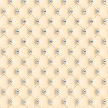 Elegant Butter Yellow Diamond Tufted Look Upholstery Pattern by jollypockets