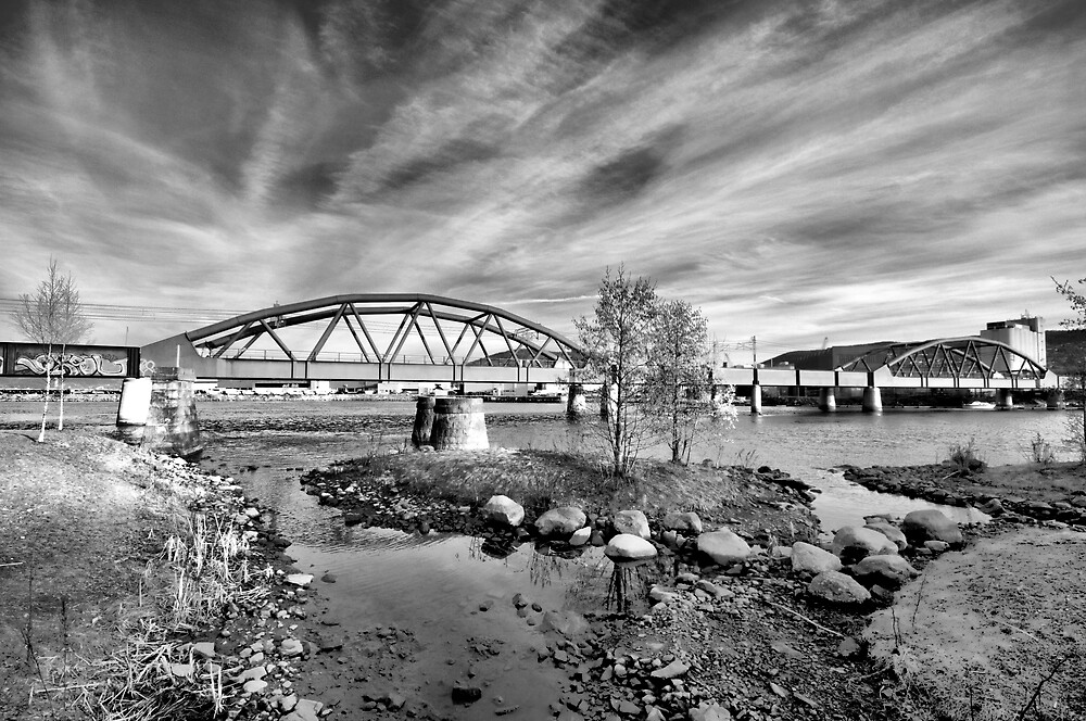 Riverpark HDR BW II by geirkristiansen