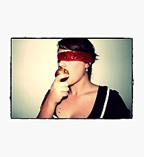 Eve, the apple of my eye Photographic Print