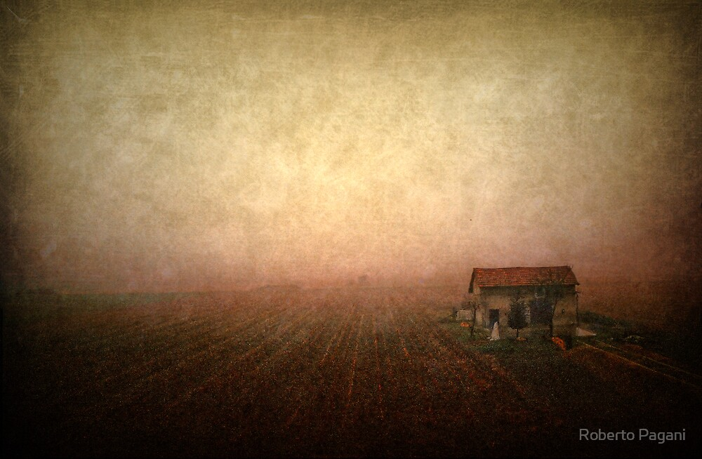 Countryscape with house by Roberto Pagani