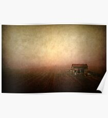 Countryscape with house Poster