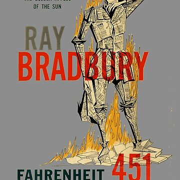 Fahrenheit 451 Ray Bradbury First Edition Book Cover by buythebook86