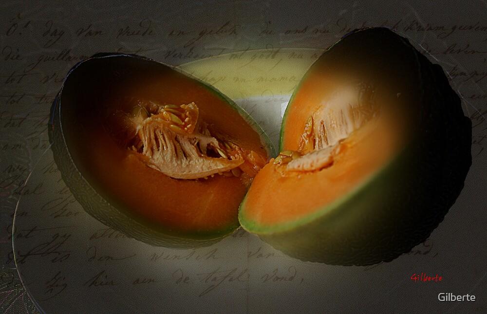 Melon Halves by Gilberte