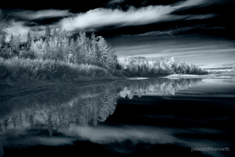 Pine River in IR by peaceofthenorth