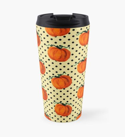 Pop Art Cascading Pumpkins Travel Mug