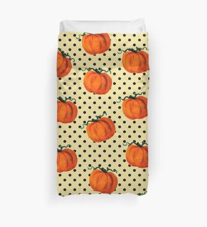Pop Art Cascading Pumpkins Duvet Cover