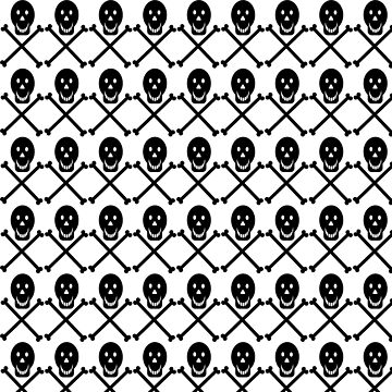 Halloween Pattern Graphic Shirt Skull and Crossbones by Maindy