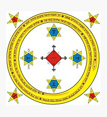 Goetia Circle - Mathers & Crowley version – Full redraw and corrected Photographic Print