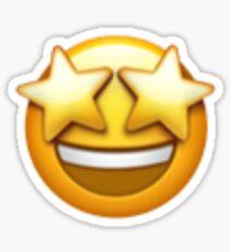 KIKI FAVE EMOJI MERCH - star eyes emoji Sticker