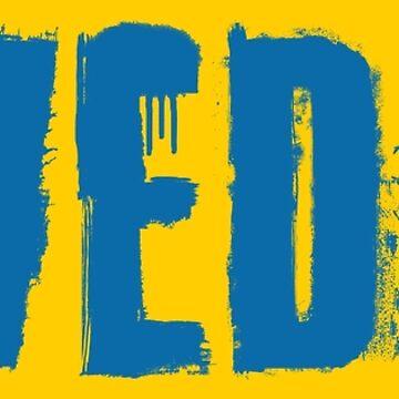 Sweden Grunge Typography by Chocodole