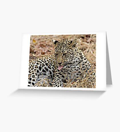 Leopard Cub Expressing Herself Greeting Card