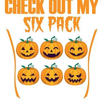 Check Out My Six Pack Halloween Shirt Pumpkin Spice Season by Maindy