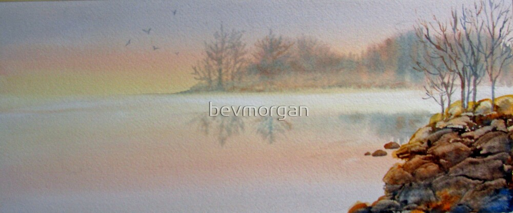 Lake Mist by bevmorgan