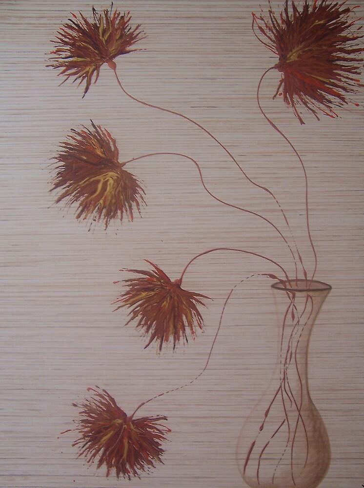 autumn in a vase by Jenny Leake