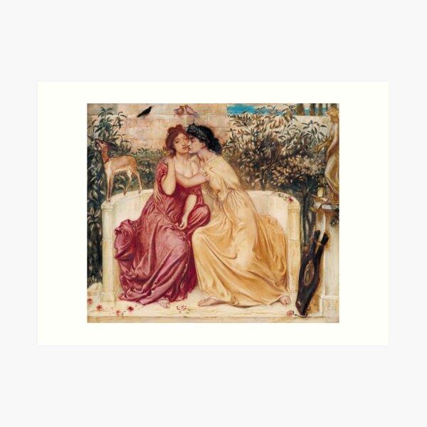 Sappho and Erinna in a Garden at Mytilene | Lesbian Art Art Print