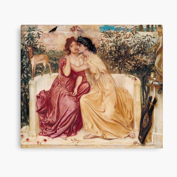 Sappho and Erinna in a Garden at Mytilene | Lesbian Art Canvas Print