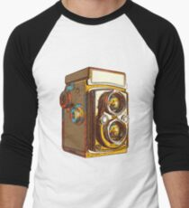 Vintage photo camera Men's Baseball ¾ T-Shirt