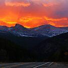 Rocky Mounains Sunset by Bryce Bradford