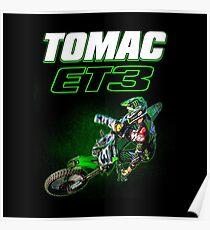 Motocross and Supercross Champion Eli ET3 Tomac Poster