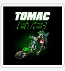 Motocross and Supercross Champion Eli ET3 Tomac Sticker
