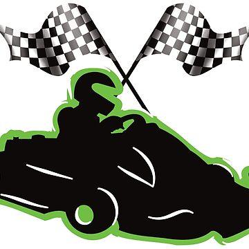 Racing Kart by AK1Shirts
