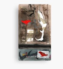 from this perch i can almost see your house Canvas Print