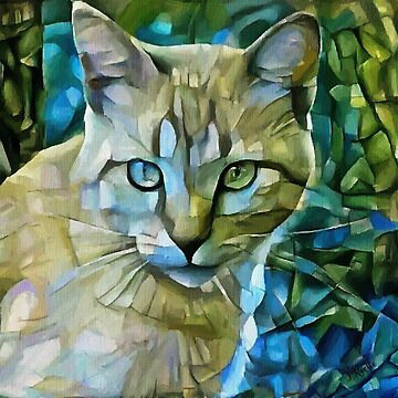 Blondy - Léa Roche paintings - cat, cat, gato by LEAROCHE
