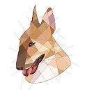 Bull Terrier by Blacklightco