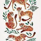 Gepard-Sammlung - orange u. Grüne Palette von Cat Coquillette